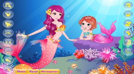 Captura de pantalla - La pequeña sirena y mamá
