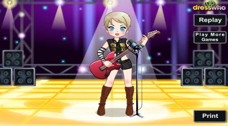 Captura de pantalla - Moda: Pequeña estrella del rock